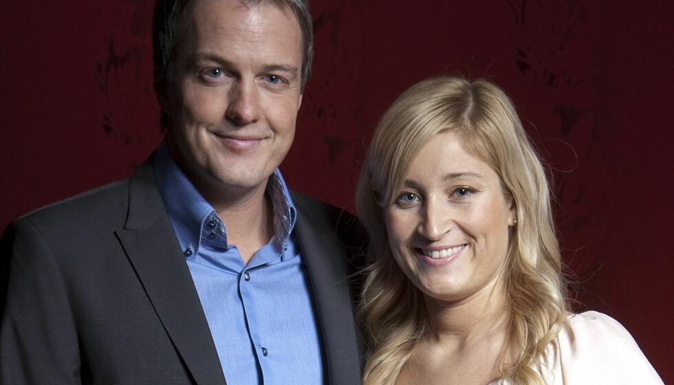 VENTER DATTER: TV 2s nyhetsanker Sturla Dyregrov og hans TV 2-kone Siril Vatne Meling blir tobarnsforeldre til våren.  Foto: Erlend Haukeland/Se og Hør