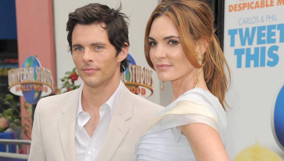 SKILT: James Marsden og ekskona Lisa Linde fra deres lykkelige dager. Paret var gift i hele 11 år.  Foto: Stella Pictures