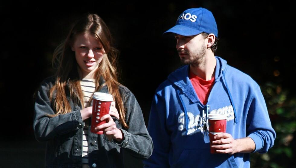 NYTT PAR?: Kilder hevder LaBeoufs nye kjæreste er «Nymphomaniac»-medspiller Mia Goth. Foto: All Over Press