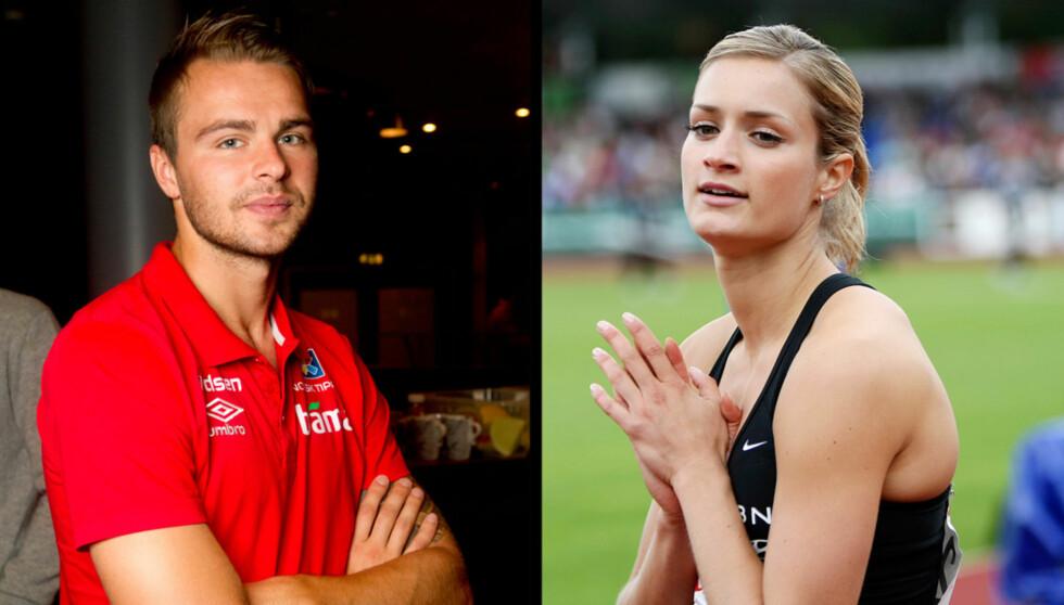 Christina Vukicevic bekrefter forlovelsen med fotballkjæresten Vadim Demidov. De er begge inne i en tung tid med hver sine saker som har vakt stor medieinteresse. Foto: SCANPIX