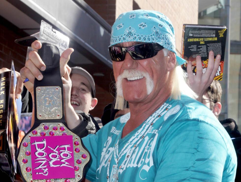 KJENDISMENN MED BART: Hulk Hogan Foto: Stella Pictures