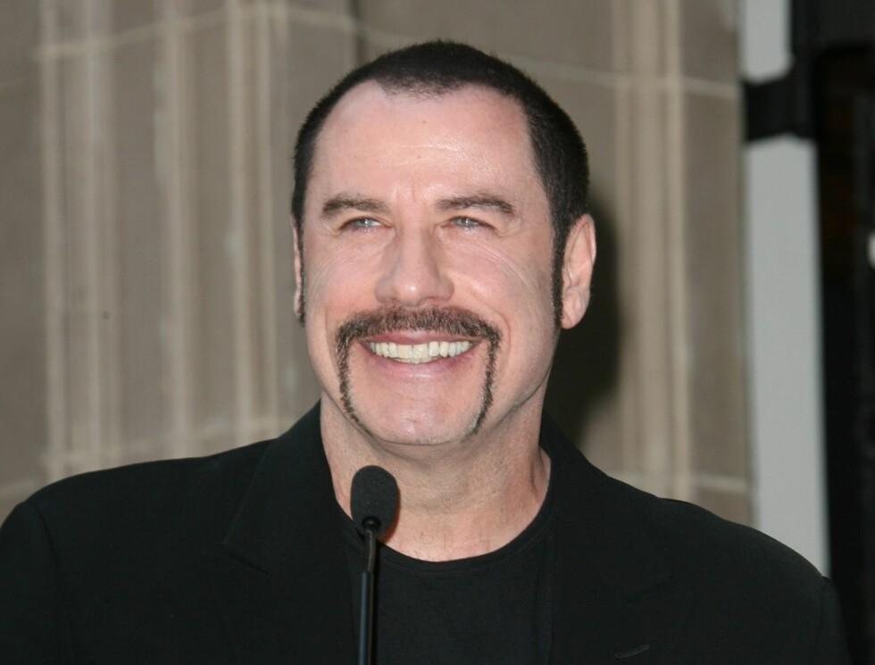 KJENDISMENN MED BART: John Travolta Foto: STELLA PICTURES