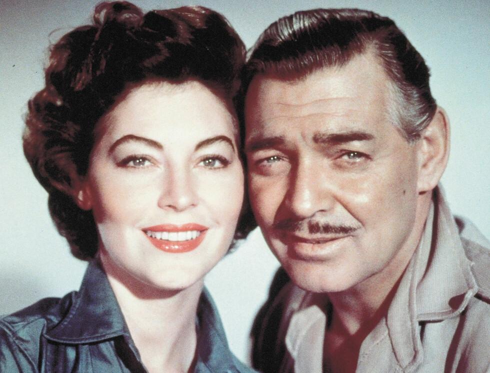 KJENDISMENN MED BART: Clark Gable Foto: Stella Pictures
