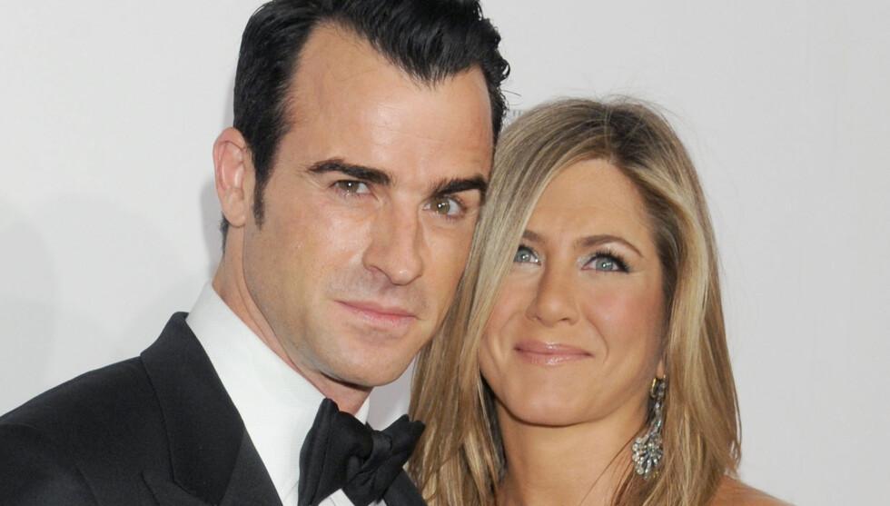 VIL VENTE MED BARN: Aniston skal være desperat etter å få barn, men Justin vil fortsatt vente. Foto: All Over Press
