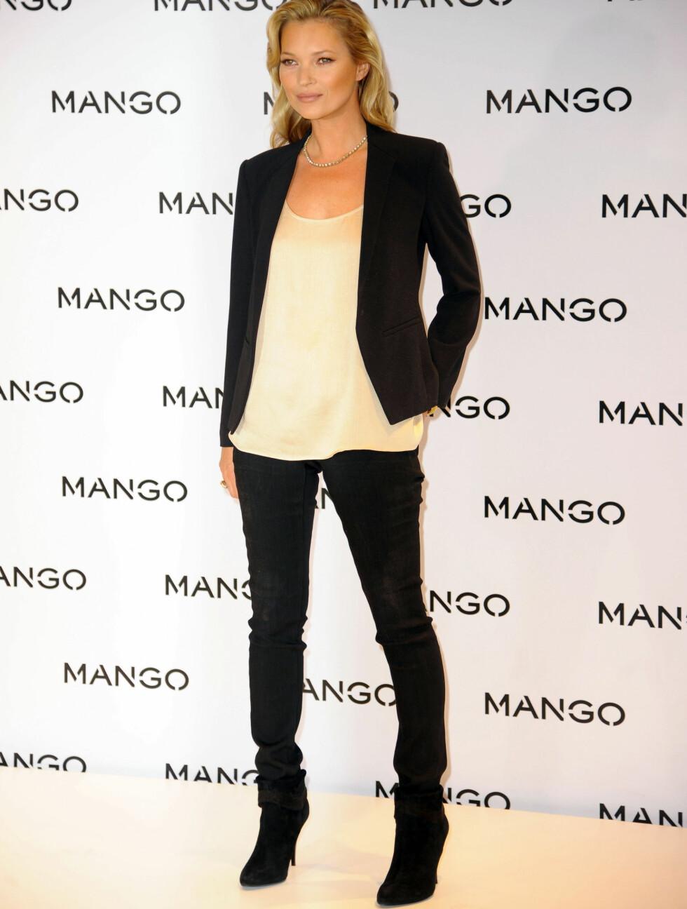 SLUTTER: Kate Moss har siden høsten 2011 vært Mangos ansikt utad. Nå er det derimot slutt på samarbeidet mellom supermodellen og klesgiganten. Foto: Stella Pictures