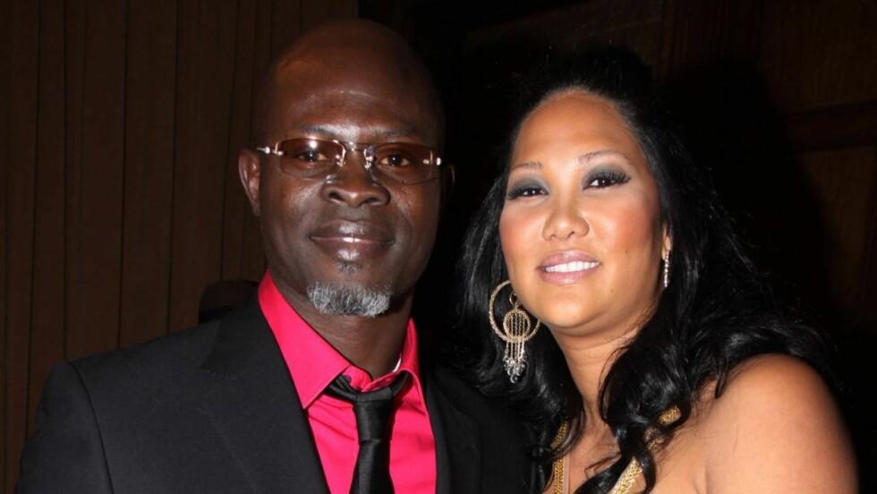 """BRUDD: Kimora Lee Simmons og kjæresten gjennom 5 1/2 år Djimon Hounsou, kjent fra """"Blood Diamond"""", har gått fra hverandre. Foto: All Over Press"""
