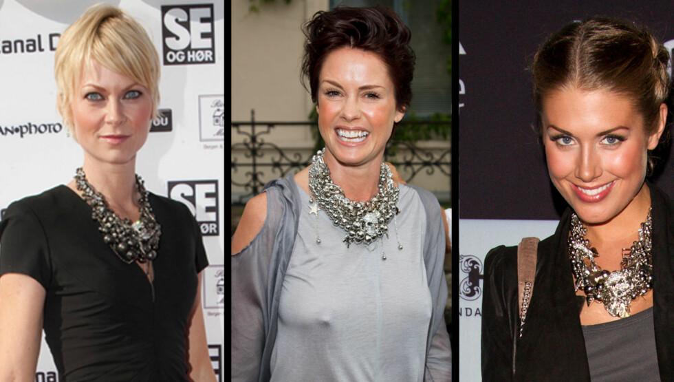 POPULÆRT: Bertine Zetlitz, Lene Nystrøm og Tone Damli Aaberg bruker alle Børre Olsens smykker.