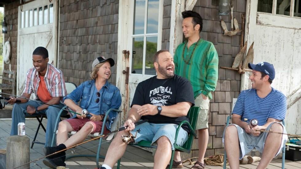 """MOROMANN: I komedien """"Grown Ups"""" spilte Schneider mot Chris Rock, David Spade, Kevin James og  Adam Sandler. Foto: Stella Pictures"""