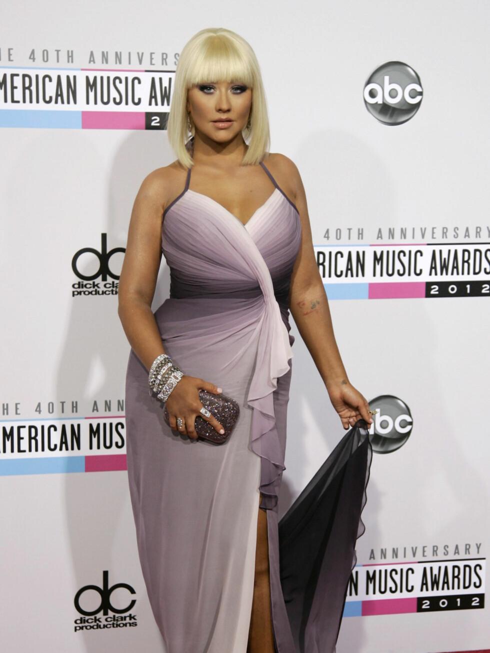 Popstjerne Christina Aguilera. Foto: NTBScanpix