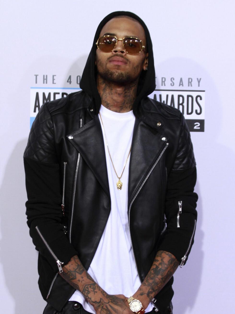 Rapper Chris Brown. Foto: NTBScanpix