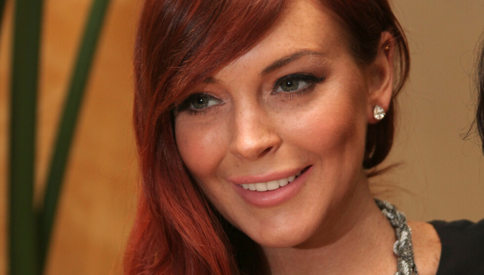 FILMAKTUELL: Lindsay Lohan promoterer filmen «Liz & Dick» som hun har spilt inn denne høsten. Filmen handler om Elizabeth Taylors liv.  Foto: FAME FLYNET