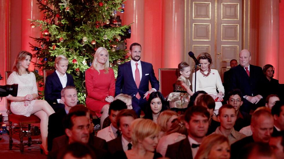 NY TRADISJON: Sonja og Harald inviterer til julekonsert på Slottet, og trolig vil hele kongefamilien være på plass. Foto: NTB scanpix