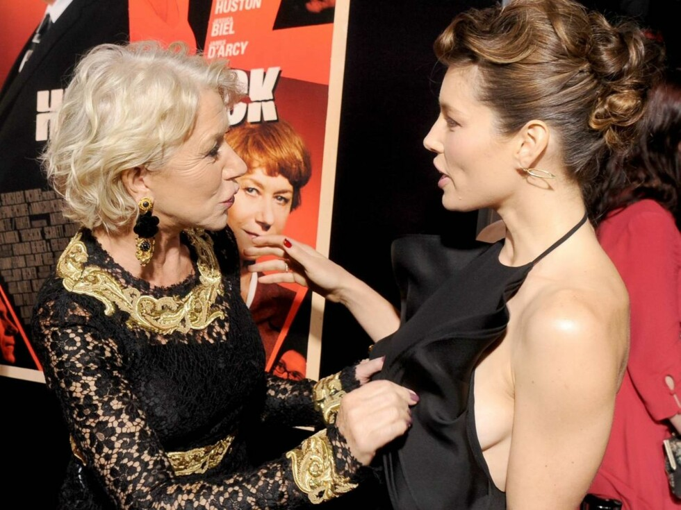 VAKRE KVINNER: Helen Mirren og Jessica Biel er noen av Hollywoods hotteste skuespillere. Foto: All Over Press