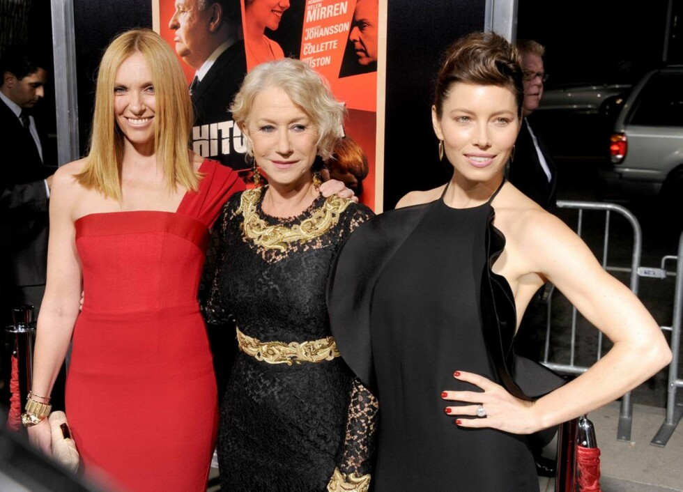 TRIO: Toni Collette, Helen Mirren og Jessica Biel på premieren til deres site film. Foto: All Over Press