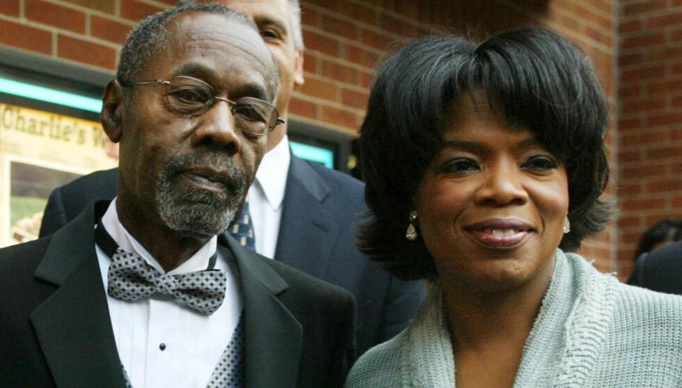HJALP TIL: Oprah Winfrey dekket utgiftene i farens skilsmisse. Foto: All Over Press