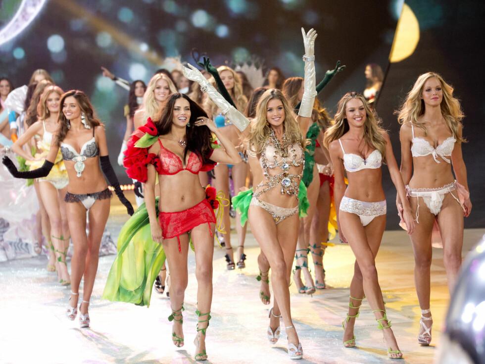 FULT SHOW:  Victoria's Secrets show får hvert år stor oppmerksomhet.  Foto: All Over Press