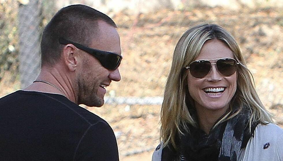 LYKKE: Heidi Klum og Martin Kristen er svært lykkelige for tiden. Foto: All Over Press