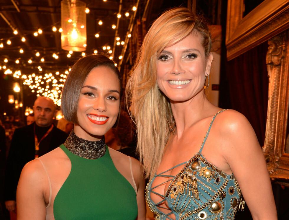 MTV EMA: Alicia Keys og Heidi Klum Foto: All Over Press