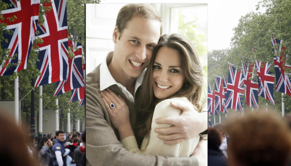 STRÅLER AV LYKKE: Forlovelsesbildet av William og Kate regnes som det beste som noengang er tatt av paret. Foto: NTB scanpix