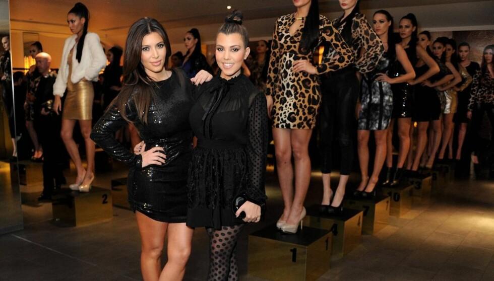 EGEN KOLLEKSJON: Søstrene Kim, Kourtney (bildet) og Khloe har designet Kardashian Kollection sammen. Foto: All Over Press