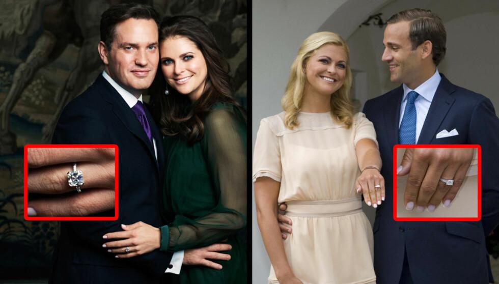 Prinsesse Madeleine har fått en ny forlovelsesring. Hvem synes du er finest?