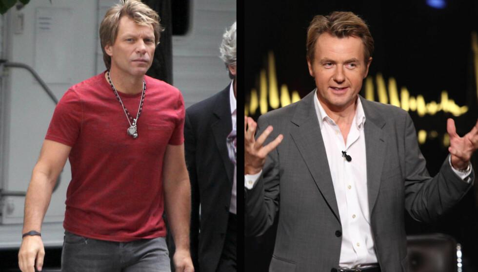 REISTE HJEM: Kort tid etter at han var med under innspillingen av ukens «Skavlan», avbrøt Jon Bon Jovi sitt London-besøk for å reise hjem til familien i New York, som sitter innesperret på grunn av orkanen Sandy. Foto: Fame Flynet Norway