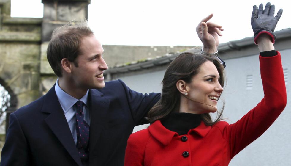 HJERTELIG GJENSYN: Kate og William kommer til å møte både gamle kjente - og rektor - under feiringen av St. Andrews i London 8. november. Foto: Reuters