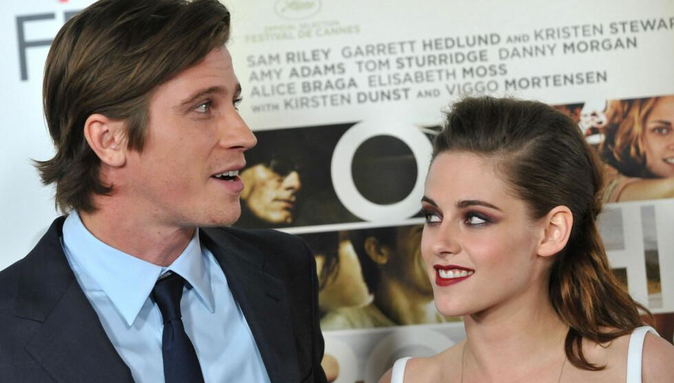 VENNER: Garrett Hedlund og Kristen Stewart ble gode venner under innspillingen av «On the Road». Foto: FameFlynet