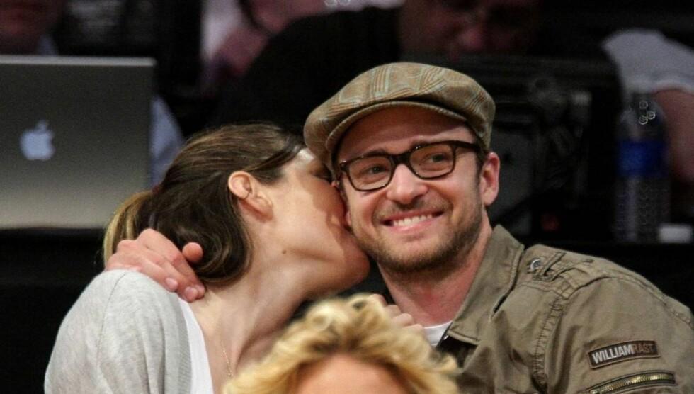SANG SÅ PUBLIKUM GRÅT: Justin Timberlake sier hans fremføring under bryllupet til Jessica Biel, fikk flere menn i salen til å gråte. Foto: All Over Press