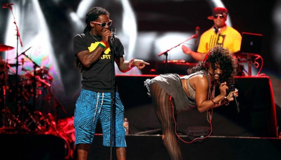 LENGE I GAMET: Lil Wayne startet karrieren som 9-åring, og er i dag en av verdens mest kjente rappere. Her fra en konsert i Las Vegas tidligere i år. Foto: All Over Press
