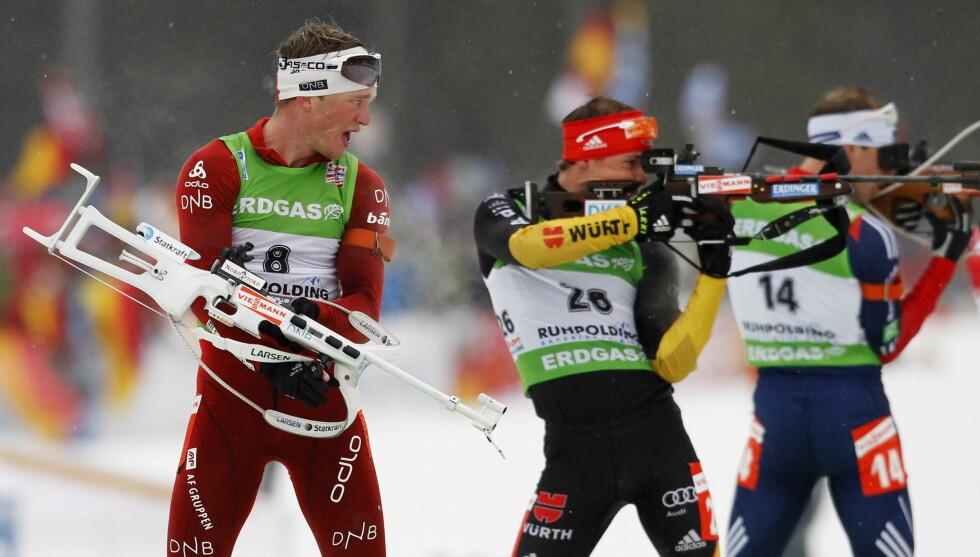 SKISKYTTER: Her fra da Tarjei Bø konkurrerte under VM i skiskyting, 15 km fellesstart herrer, i Ruhpolding i Tyskland tidligere i år. Foto: NTB scanpix