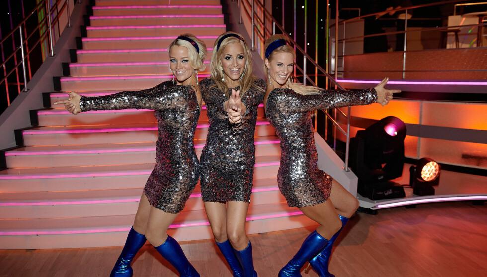 80.000: Hanne Sørvaag, Linni Meister og Cathrine Larsåsen kjemper fortsatt om å vinne «Skal vi danse». Så langt har de tjent rundt 80.000 kroner, mens vinneren vil runde 108.000.  Foto: Stella Pictures