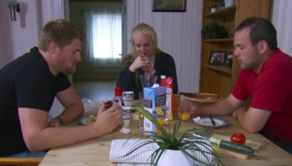 INGEN KLAFF: Anna Liisa Evensen valgte bort begge sine gjenværende friere i «Jakten på kjærligheten» på TV 2 mandag. Foto: TV 2