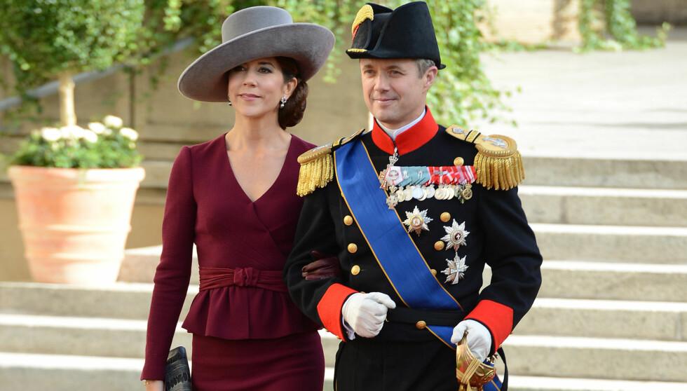 FRA BRYLLUP TIL SORG: Kronprinsesse Mary og kronprins Frederik under bryllupet i Luxembourg nylig.  Foto: All Over Press