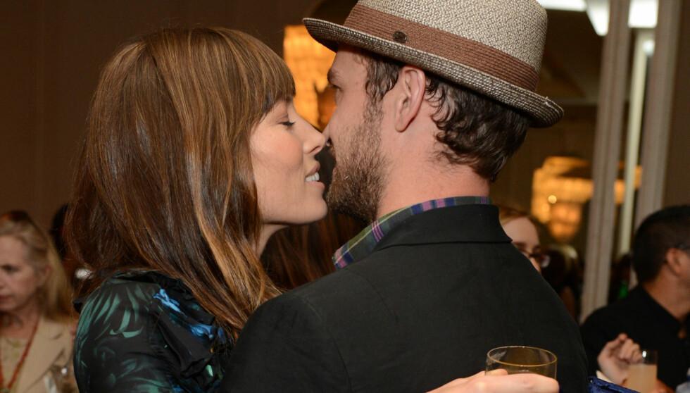 ELSKER Å VÆRE GIFT: Jessica Biel og Justin Timberlake - her i et arkivfoto - sier til People at de elsker sin nye tilværelse som mann og kone. Foto: All Over Press
