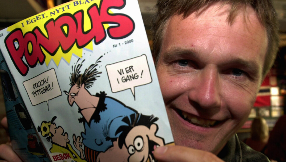 VINNER: Tegneserieforfatter Frode Øverli stakk av med tittelen «Årets Ølhund» under bransjedager på Mathallen på Vulkan i ettermiddag. Foto: NTB scanpix