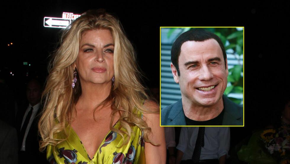 GODE VENNER: Kirstie Alley og John Travolta skal ha vært venner helt siden de spilte sammen i diverse filmer på 80- og 90-tallet. De er begge også medlem av den omstridte Scientologi-kirken. Foto: Stella Pictures