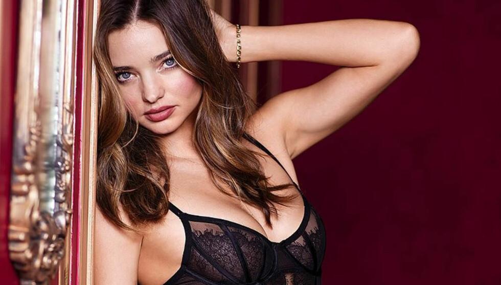 VAKKER: Den australske toppmodellen Miranda Kerr er blant Victoria's Secret' mest profilerte «engler». Her avbildet i en kampanje for merket tidligere i høst. Nå er 29-åringen kåret til verdens mest sexy kvinne av magasinet Esquire. Foto: Stella Pictures