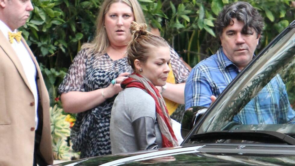SLITEN?: Slik så Rimes ut før TV-intervjuet med Katie Couric lørdag. Foto: All Over Press