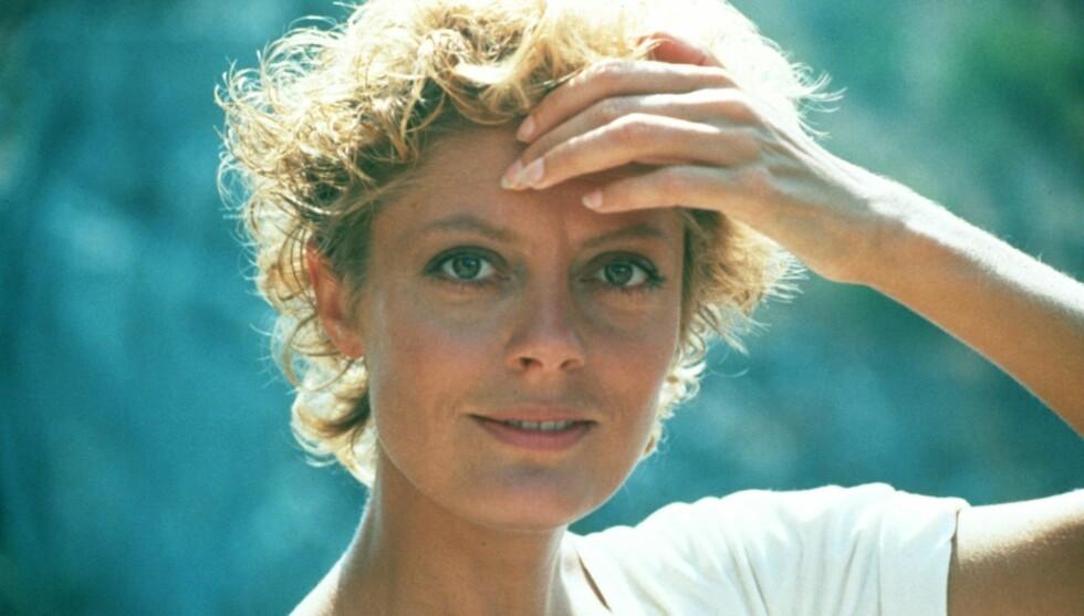 UNG: Susan Sarandon har lang fartstid innenfor amerikansk filmbransje. Dette bildet er fra filmen «Tempest» som ble spilt inn i 1982. Foto: Stella Pictures