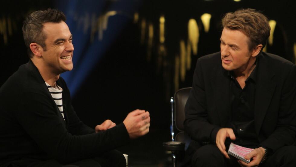 GJESTER SKAVLAN: Robbie Williams viser seg førstkommende fredag Skavlan-studioet nok en gang. Foto: Stella Pictures