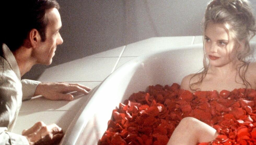 FILMSUKSESS: Mena Suvari gjorde stor suksess i filmen «American Beauty» fra 1999, der hun spiller mot Kevin Spacey. Foto: Stella Pictures