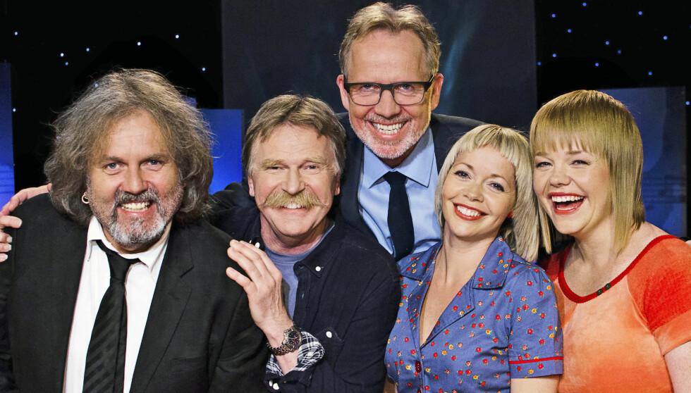 I BEAT FOR BEAT: For to uker siden var Egil Eldøen (til venstre) med Olav Stedje , Brit Synnøve Johansen og Randi Tytingvåg. Foto: NRK