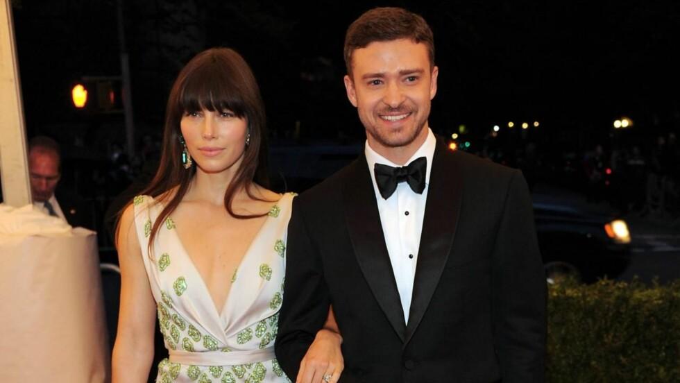 HEMMELIG: Jessica Biel og Justin Timberlake har holdt bryllupet skjult, men nå melder People at paret giftet seg i Italia fredag kveld.  Foto: All Over Press