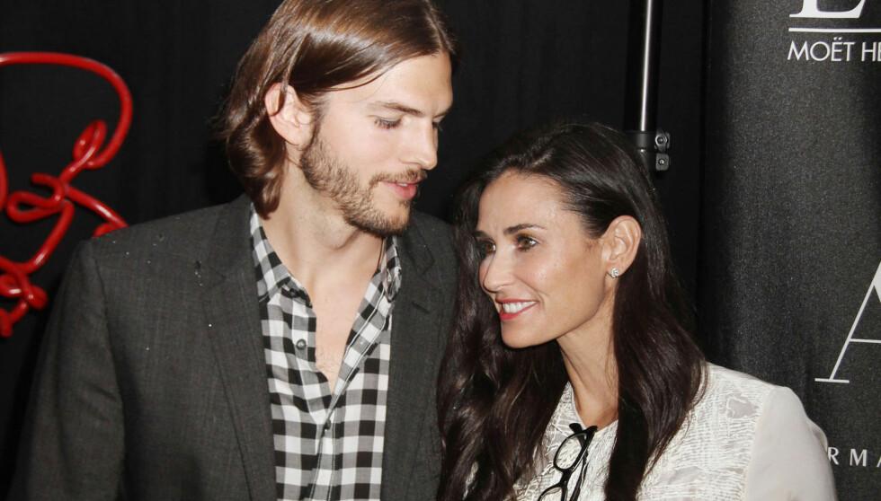 FREMDELES GIFT: Demi Moore og Ashton Kutcher giftet seg i september i 2005. Seks år senere var bruddet mellom et av Hollywoods heiteste par en realitet. Foto: Stella Pictures