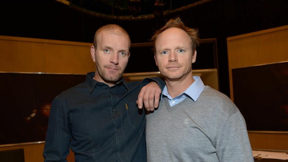KLARE FOR NYE UTFORDRINGER: Bård Tufte Johansen og Harald Eia melder overgang til TVNorge. Foto: FAME FLYNET