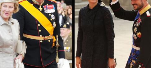 Se de kongelige festkjolene