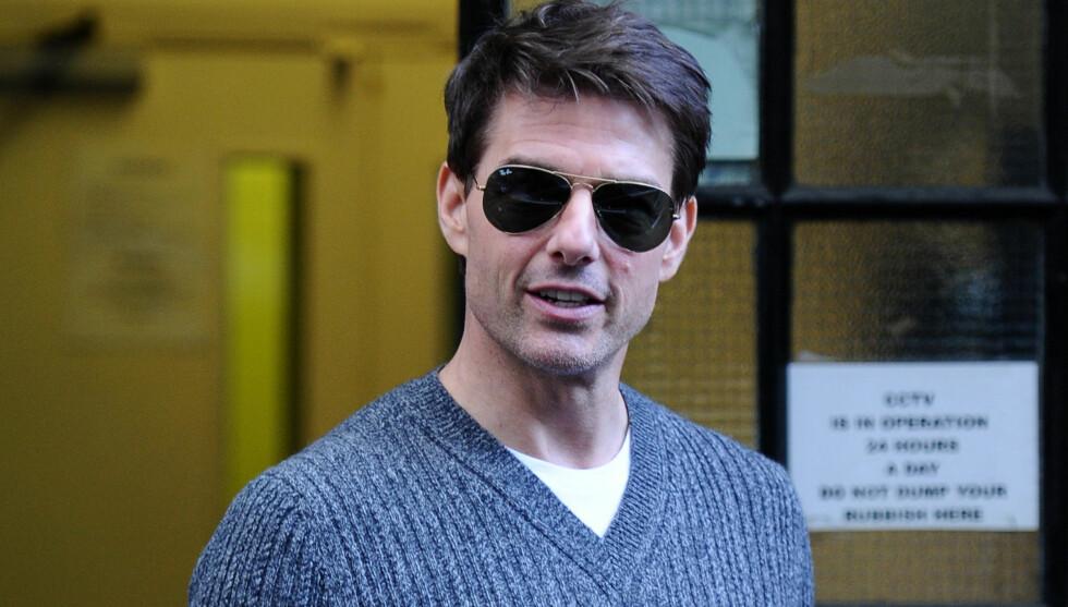 PORNONAVN: Tom Cruise har funnet opp sitt eget pornonavn, «Cage Hunter», som han kaller det. Dette bruker han når han sjekker inn undercover på hoteller. Foto: Stella Pictures