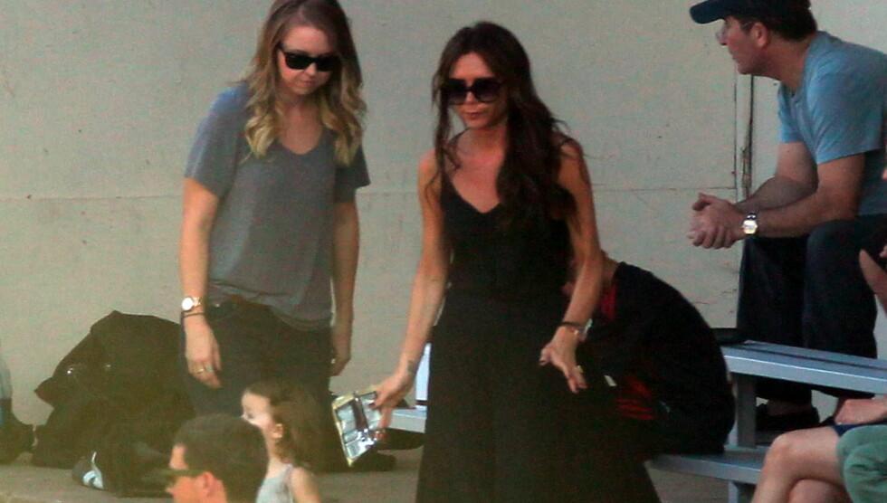 VIDE KLÆR: Beckham har den siste tiden vist seg i mindre tettsittende klær enn vanlig. Foto: All Over Press