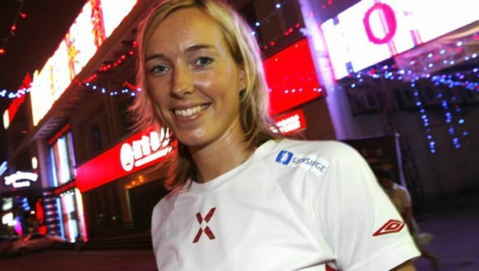 Landslagsstjerne i håndball Katrine Lunde Haraldsen kan endelig smile etter en tung periode. Foto: SCANPIX